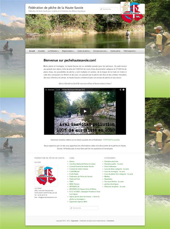 Formation Wordpress Annecy, Fédération de pêche de la Haute Savoie   Fédération de Haute Savoie