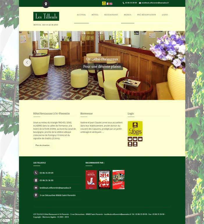 Formation Wordpress Dijon, Hotel Restaurant les Tilleuls
